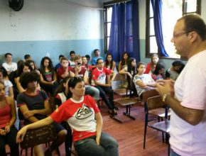 O jornalista elogiou as atividades feitas pelos Calebes e falou sobre os desafios da sua profissão.