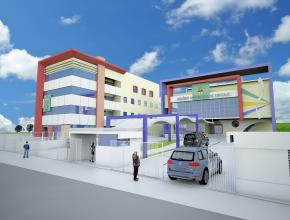 Projeto da nova sede da Missão Sergipe (esquerda) e do Colégio Adventista de Aracaju
