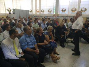 Anciãos participam do Marco em Presidente Prudente. Foto: colaborador local