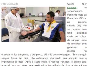 1603 - sangue a venda em supermercado vai conscientizar sobre doação