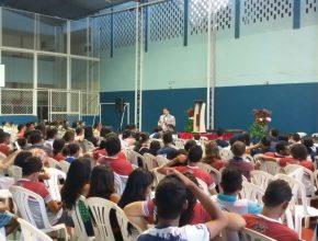 Congressos Jovens fizeram parte da programação no sábado pela manhã