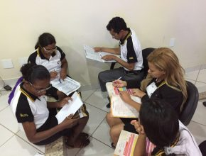 O planejamento foi feito também em grupos