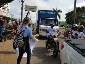 Os 310 alunos da Escola Adventista de Ariquemes foram às ruas colocar em prática que aprenderam