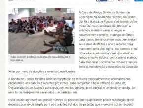 Membros do clube de Desbravadores de Alterosa visitaram casa de abrigo
