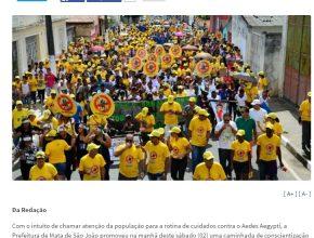 Cerca de 500 pessoas participaram da caminhada, entre elas, os Desbravadores Adventistas