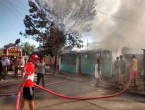 Thiago ajudou a chamar os bombeiros e salvou a vida da dona da casa incendiada.
