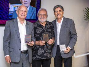 Da esquerda para a direita, Rubens Lessa, Assad Bechara e Siloé Almeida.