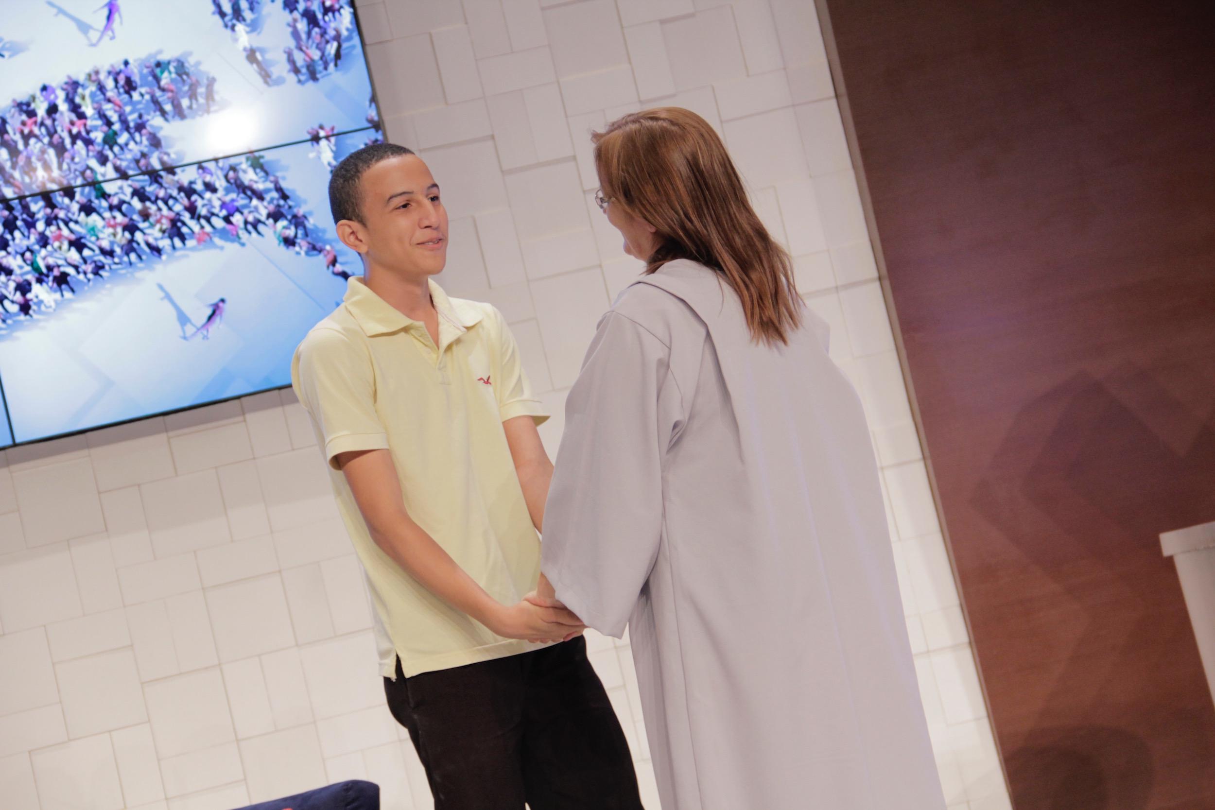 O encontro entre Elivando e Almira emocionou a todos. Do contato virtual ao momento pessoal: instrutor e instruída querem fazer mais discípulos.
