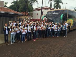 Funcionários da Associação Paulista Oeste participam do Impacto Esperança em Viradouro.