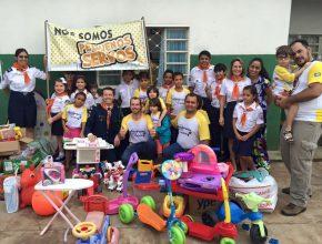 Crianças dos Clubes de Aventureiros de Cuiabá e região metropolitana se mobilizaram para montar a brinquedoteca e presentear a escola municipal com o novo espaço. [Fotos: Ítalo Silva e Paulo Henrique]