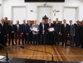 Líderes da Igreja Adventista recebem homenagem da Câmara Municipal de Juiz de Fora Foto: Anne Seixas