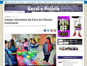 Colégio foi destaque no portal Diário de Santa Maria.
