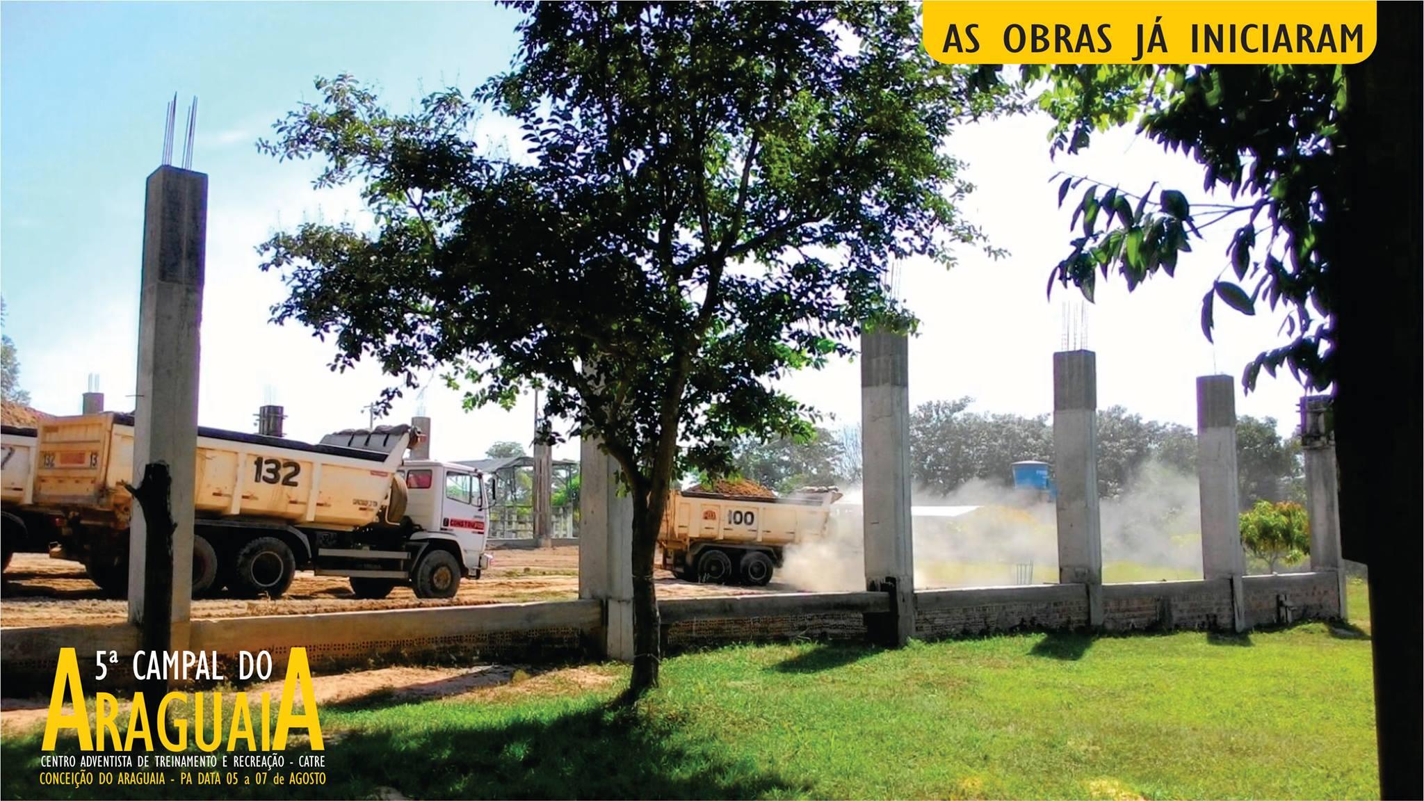 Obras avançadas no CATRE de Conceição do Araguaia.