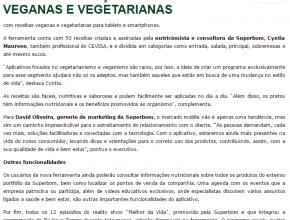 Superbom lança app com receitas veganas e vegetarianas