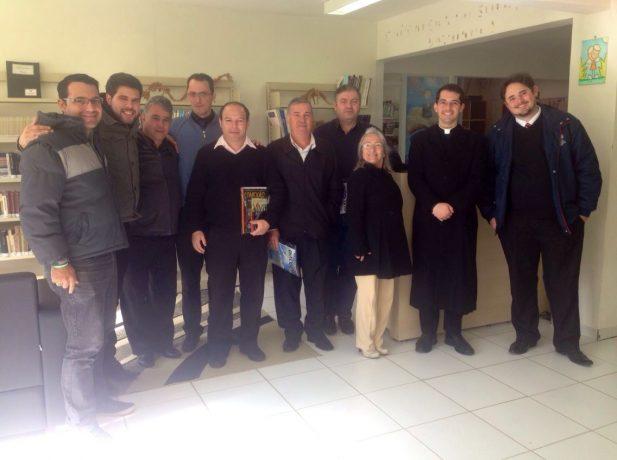 Pastores evangélicos e um padre compareceram ao encontro.