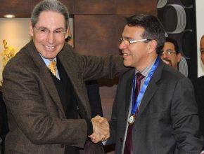 Professor Heber de Oliveira e Dr. Alcides Coimbra no Simpósio em São Bernardo do Campo.