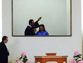 No último sábado (11), Maria foi batizada pelo pastor Fernando Rios, atual presidente da Igreja Adventista para o Mato Grosso do Sul.