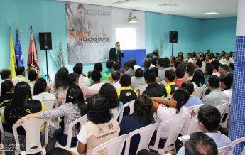 Pr. Ivanildo Cavalcante (MiPes/UNB) durante Convenção de Líderes de PGs em Parauapebas.