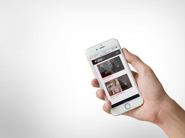 Visão parcial do aplicativo APaCTV