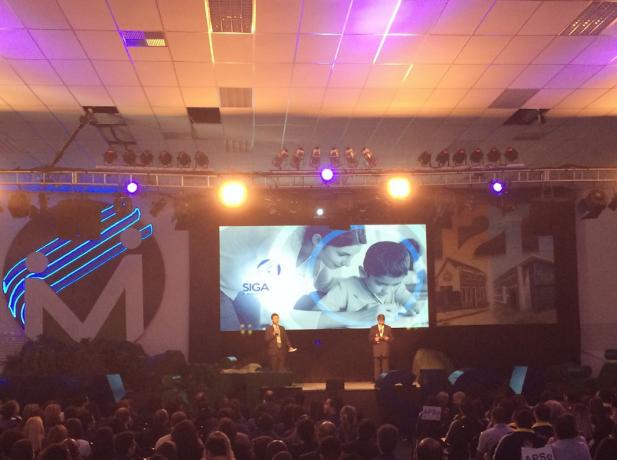 Líder da Educação Adventista no Estado de São Paulo, pastor Antônio Marcos, abre o programa com mensagem inspiradora sobre os exemplo de Jesus.