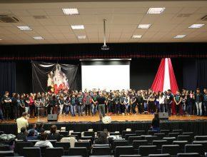 Adolescentes de todo o noroeste gaúcho participaram do encontro.