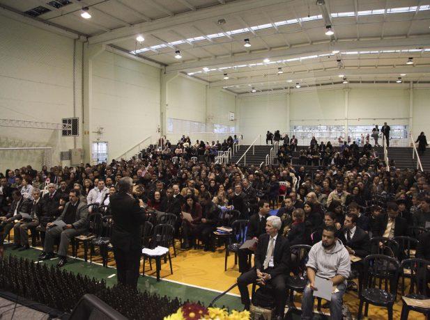 O evento reuniu mais de 300 anciãos e suas esposas.