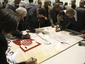 Os participantes firmaram compromisso com a Escola Sabatina.