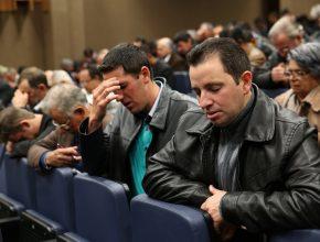 Momentos de oração foram a marca registrada do Concílio de Anciãos.