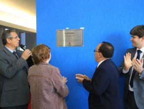 Placa do Auditório Pr. Pedro Ferreira Lima é inaugurada