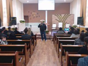 Pr. Valter Araujo, diretor do Min. da Música da AP, também participou do evento.