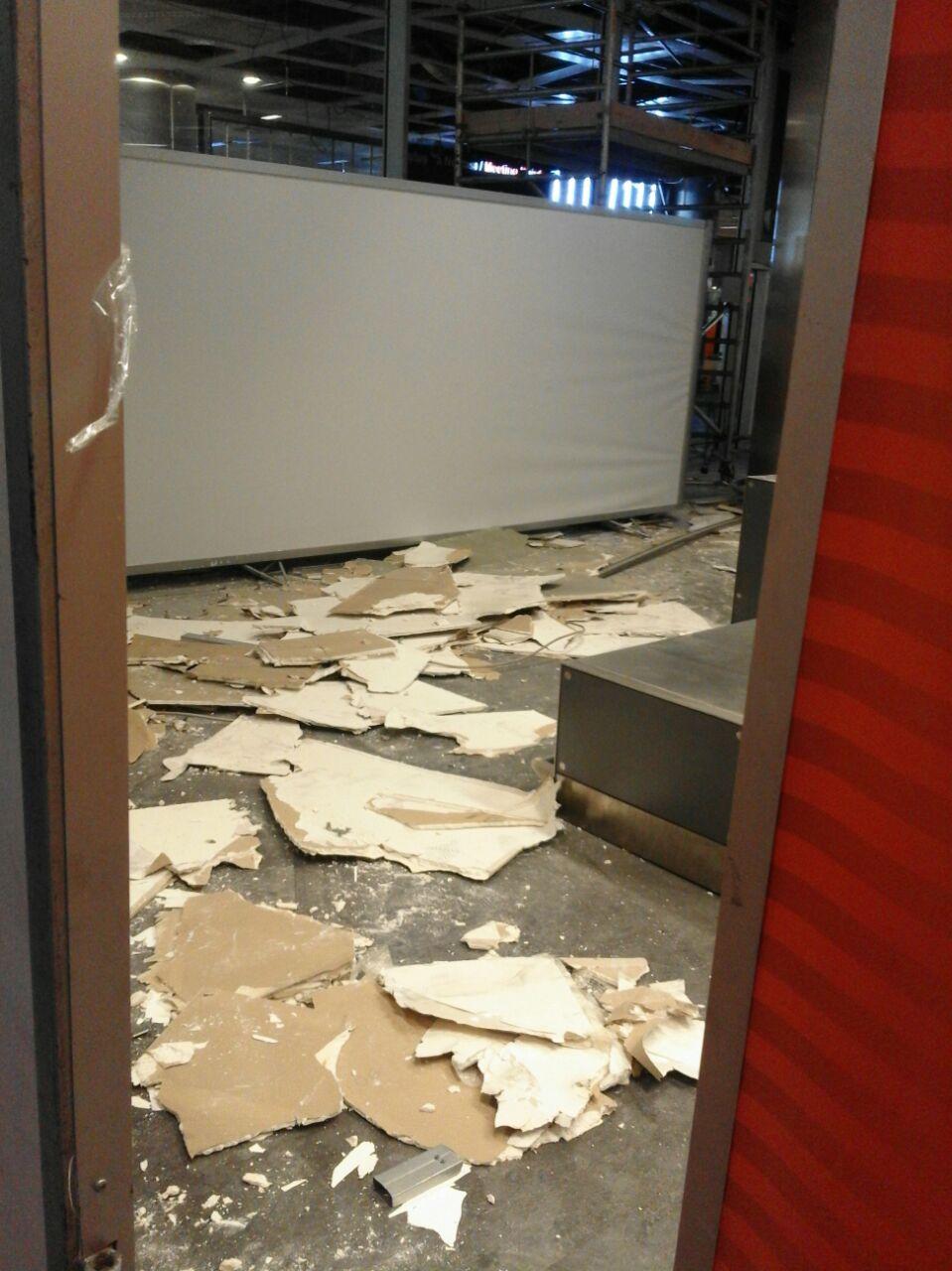 Resultados da destruição com a explosão. Foto tirada pelo pastor adventista.