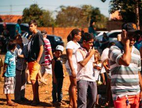 A primeira ação do projeto Nova História aconteceu no domingo, 3 de julho, no bairro escolhido pelo grupo para um atendimento contínuo para os próximos três anos.