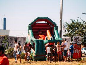 Oficinas e área recreativa para as crianças também fizeram parte da programação.