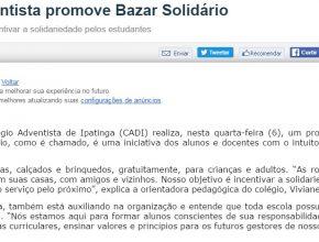0607 - Colégio Adventista promove Bazar Solidário