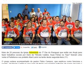 1207 - Adventistas paraguaios farão ação social em Arujá