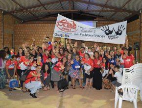 Calebes que estão construindo uma igreja adventista no bairro Caiobá II, em Campo Grande.