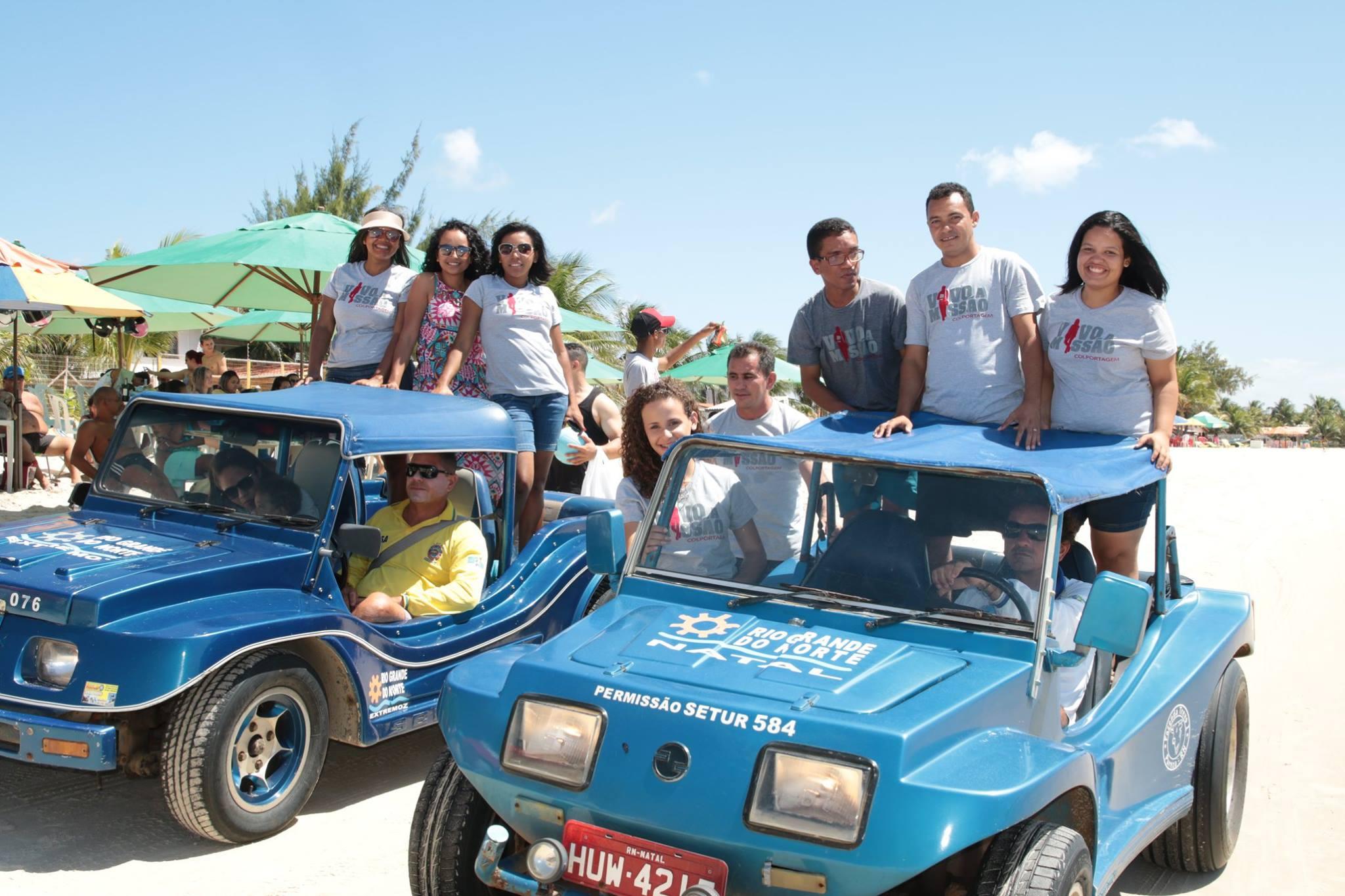o passeio sobre as dunas móveis de Genipabu foi uma das premiações ao grupo