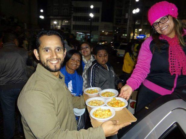 Ação aconteceu em uma sexta-feira a noite na Praça da Sé [Foto:Divulgação]