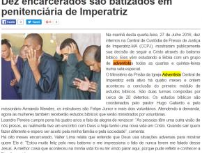 2907 - Dez adventistas encarcerados são batizados em penitenciária de Imperatriz