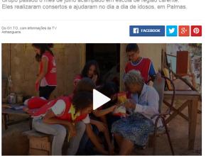 0108 - Jovens deixam de curtir férias para ajudar famílias carentes no Tocantins