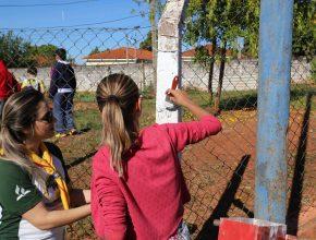 Cerca de 80 desbravadores se envolveram na iniciativa. Foto: Henrique Pirota