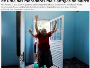 0208 - Ação social no Santo Agostinho reforma casa de uma das moradoras mais antigas do bairro