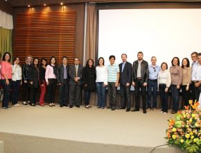 Alunos do Mestrado Profissional também tiveram a oportunidade de participar da cerimônia de lançamento.