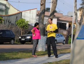 Membros entraram em contato com os moradores