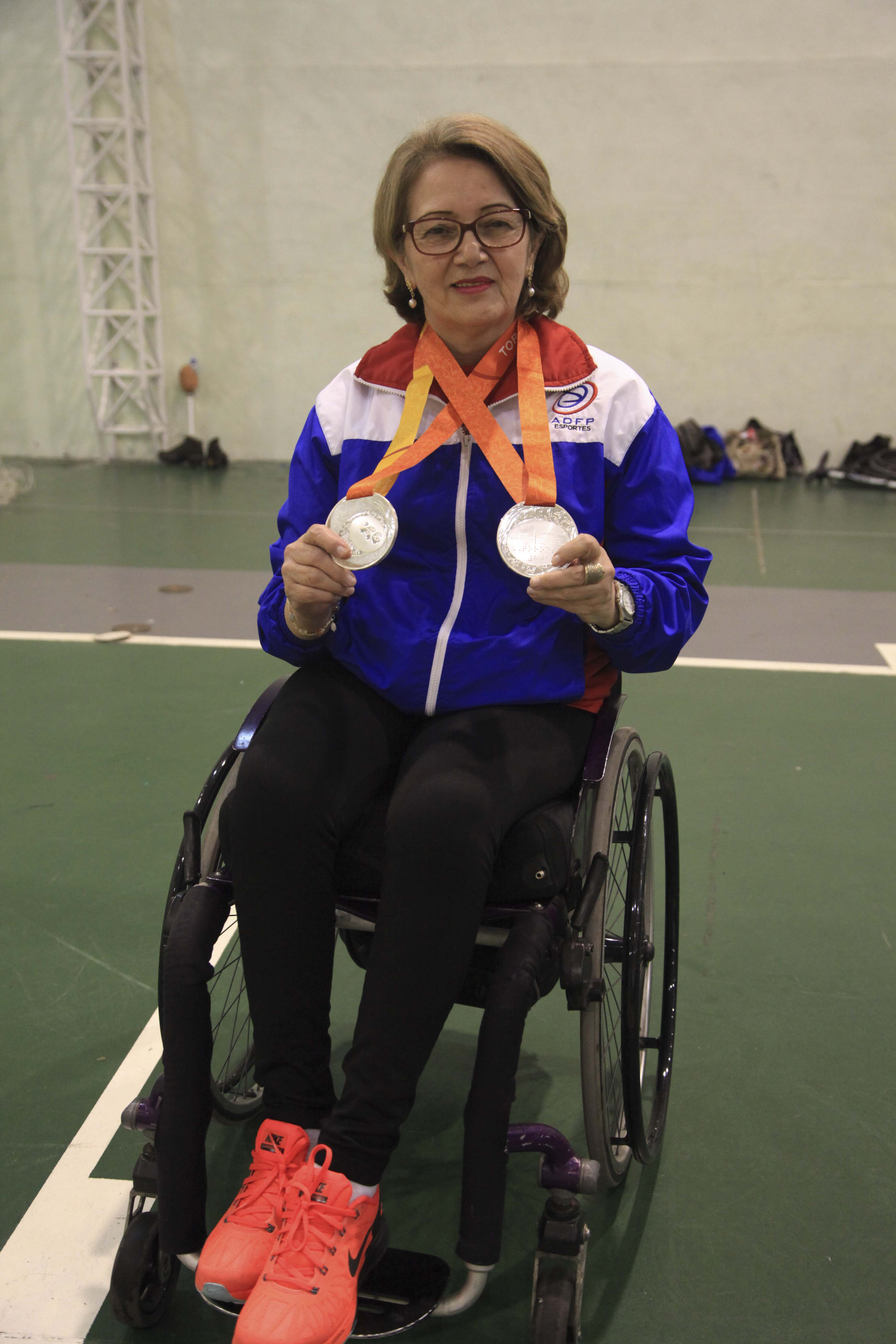 Maria Luísa trouxe duas medalhas de prata para o Brasil, conquistas nos Jogos Parapan-Americanos de 2015.
