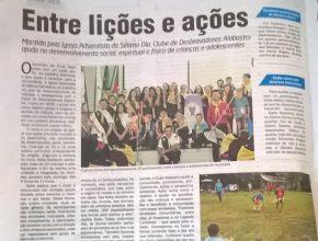 O jornal Alto Uruguai, um dos mais lidos de Erval Seco, fez uma matéria completa sobre os desbravadores.
