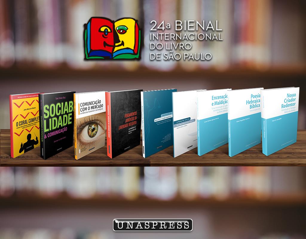 Os livros abordam assuntos na área de teologia, comunicação e direito.