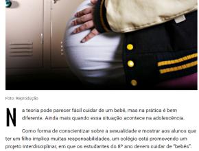 """ADOLESCENTES DA RMC APRENDEM SOBRE GRAVIDEZ PRECOCE CUIDANDO DE """"BEBÊS"""" POR UMA SEMANA"""