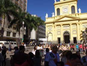 Preparativos para o Flashmob em Campinas.