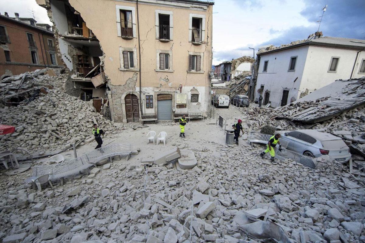 """O governo da Itália começou a realizar as primeiras consultas técnicas para a estruturação do projeto """"Casa Italia"""", que terá como foco a prevenção de danos como os do último terremoto. Crédito: www.blink102.com.br"""